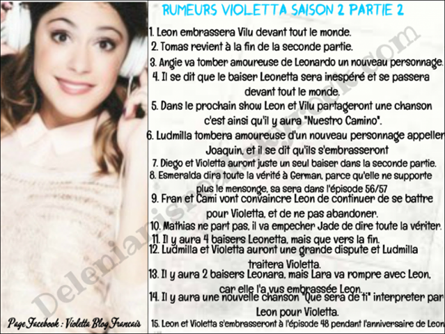 Info sur violetta 2 nouveau personnage blog de martina - Info violetta ...